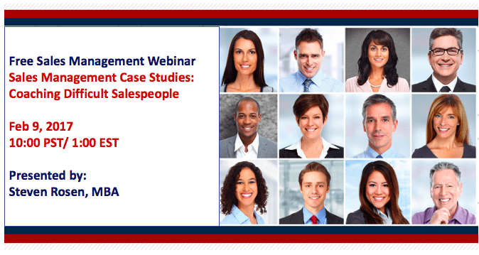 Sales Management Training Webinar: Coaching Difficult Salespeople