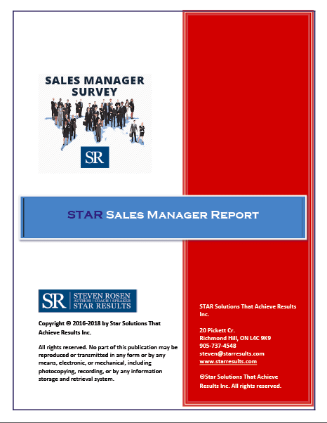 STAR Sales Manager Report